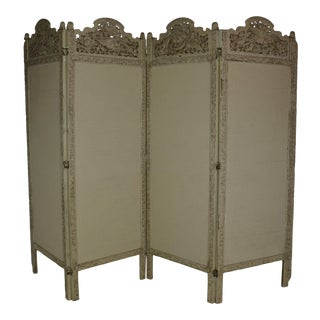 Vintage Jaspanese Folding Screen For Sale
