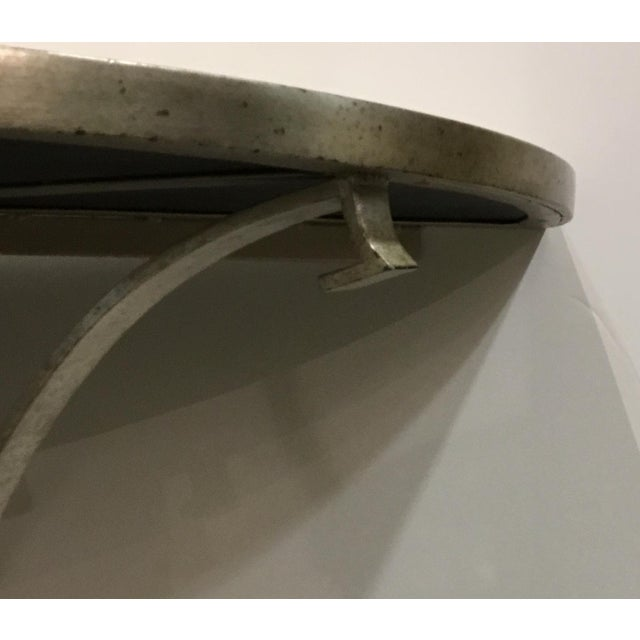Vangaurd Modern Metal and Stone Demi-Lune/Console Table For Sale In Atlanta - Image 6 of 7