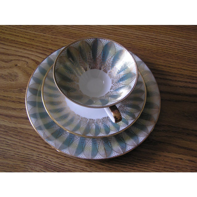 Mid-Century Coffee Cups & Plates - 12 Pieces For Sale In Los Angeles - Image 6 of 12