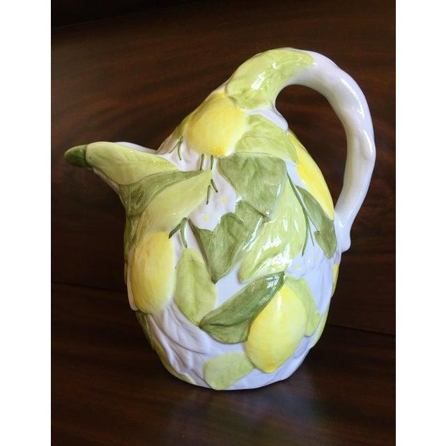 Italian San Marco Lemon Shaped and Lemon Embellished Pitcher For Sale - Image 12 of 13