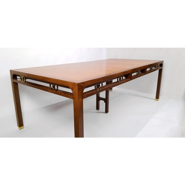 1960's Baker Far East Collection Dining Room Table and Chairs by Michael Taylor For Sale - Image 10 of 13
