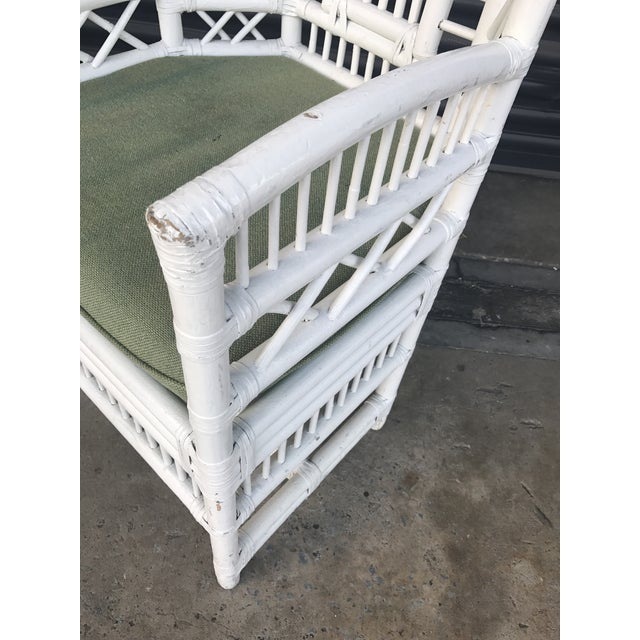 Vintage Rattan High Back Chairs - a Pair - Image 11 of 11
