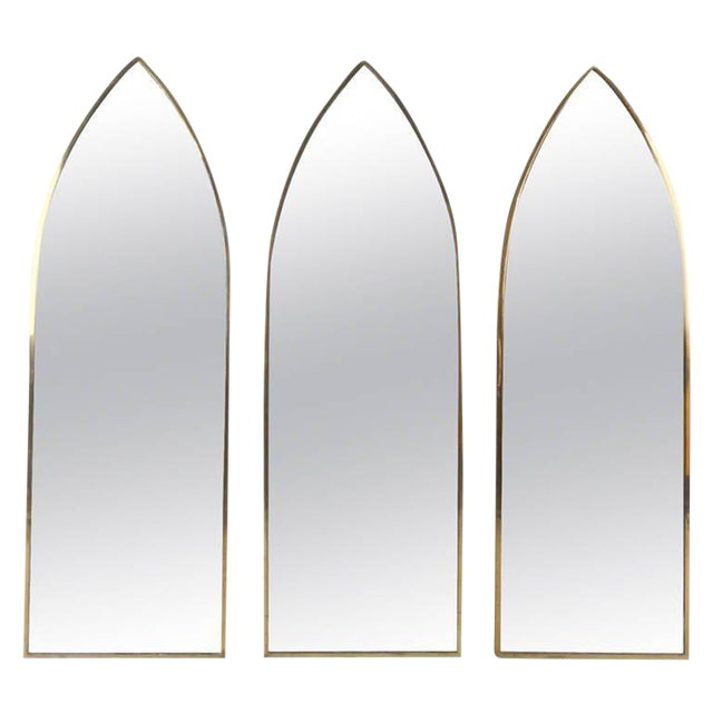 Mid-Century Arch Mirrors - Set of 3 For Sale