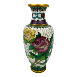 Authentic Jingfa Cloisonne Vase Form the 1950s For Sale
