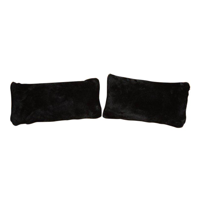 Black Shearling Pillows For Sale In New York - Image 6 of 6
