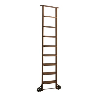 Mid-Century Library Ladder For Sale