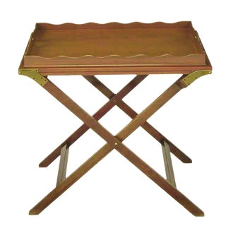 Baker Serving Table with Removable Tray and Butterfly Top For Sale