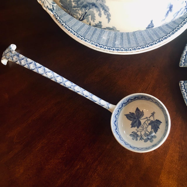 "Soho Pottery ""Pandora"" Pattern Soup Tureen made approximately 1906. Base: 13"" x 11.5"" x 1.75"" Tureen: 13"" x 11"" x 10"""