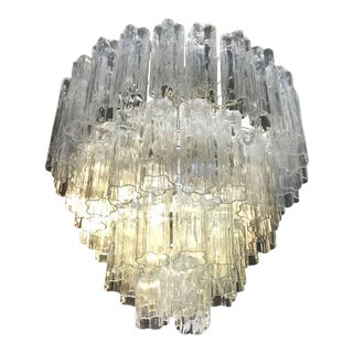 Vintage Murano Glass Chandelier Tronchi For Sale