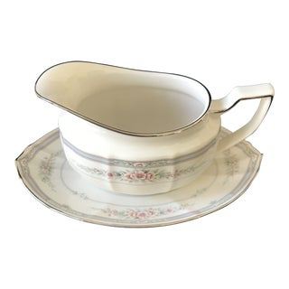 Noritake Rothschild Gravy Boat and Underplate Set