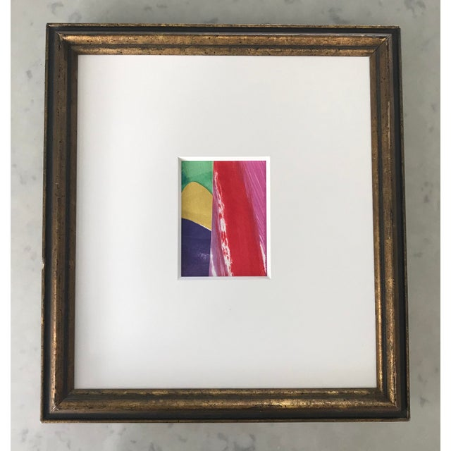 Original Abstract Collage in Vintage Frame For Sale - Image 9 of 9