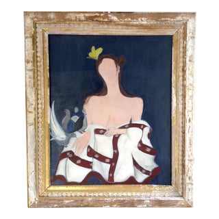 Contemporary Figural Framed Painting For Sale