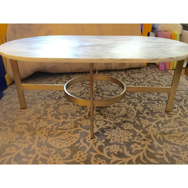 West Elm Marble Coffee Table - Image 4 of 6