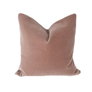 Brunschwig and Fils Rose Bisque Mohair Pillow