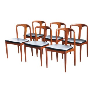 "1950's Original Johannes Andersen ""Juliana"" Danish Dining Chairs - Set of 6 For Sale"