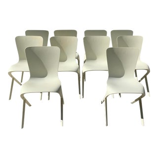 Knoll Washington Skin Chairs - Set of 10 For Sale