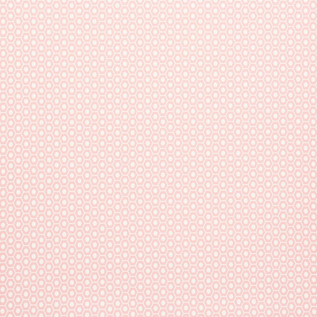 Contemporary Schumacher Queen B Wallpaper in Pink For Sale - Image 3 of 4