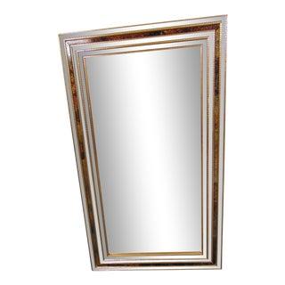 Italian Gilt Stacked Mirror Framed Mirror For Sale