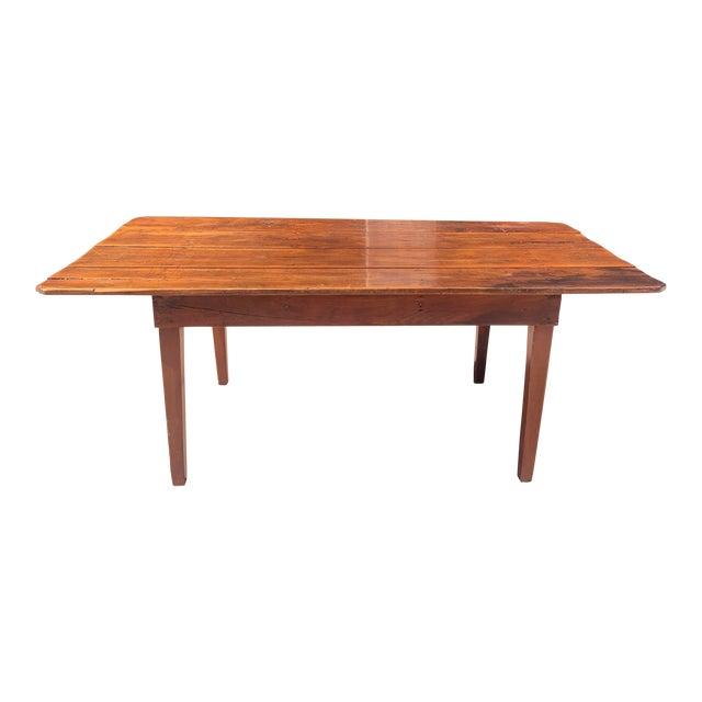 1960s Rustic Custom Built Barnwood PlankTop Dining Table For Sale