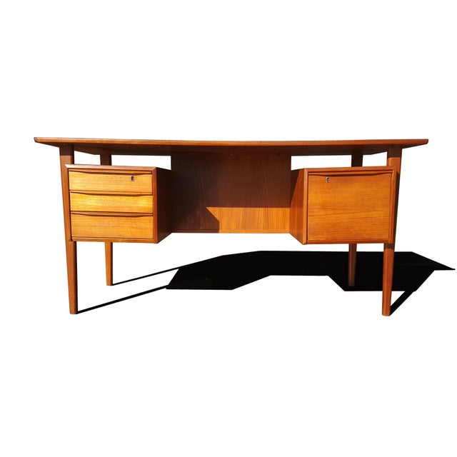 Danish Mid-Century Modern President Desk by Peter Lovig Nielsen For Sale - Image 10 of 10