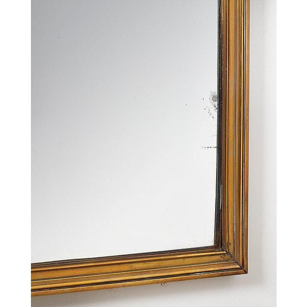 """Fine quality brass brasserie mirror French circa 1920s Measurements Height 60"""" 153 cms Width 38"""" 97 cms"""