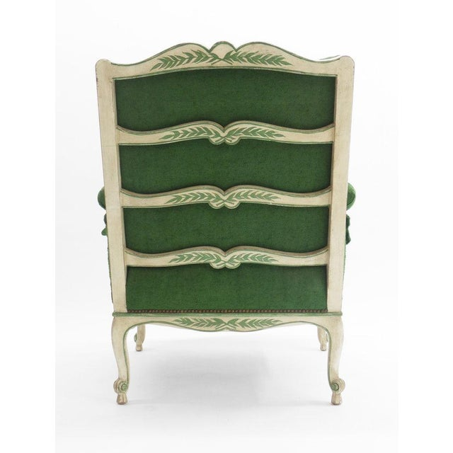 Ladder Back Bergere Armchair For Sale In New York - Image 6 of 7
