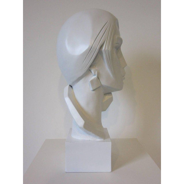 1980s Large Female Head Sculpture by Austin For Sale - Image 5 of 9
