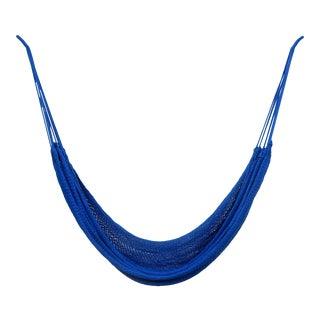 Handmade Cobalt Blue Cotton Hammock For Sale