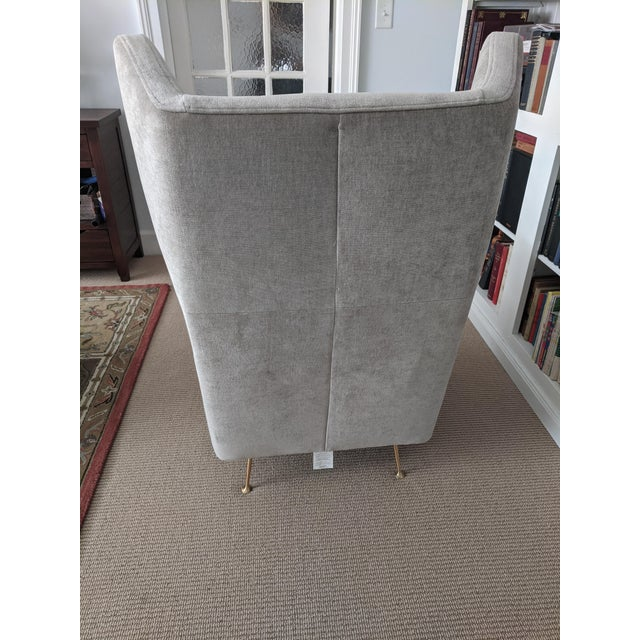 West Elm Mid-Century Modern Italian Style West Elm Wing Chair For Sale - Image 4 of 10