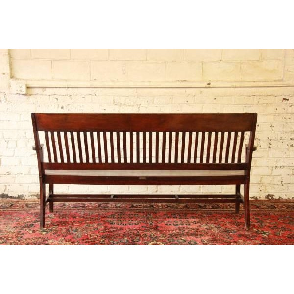Early 1900's Lawyers Bench by Heywood-Wakefield For Sale - Image 5 of 8