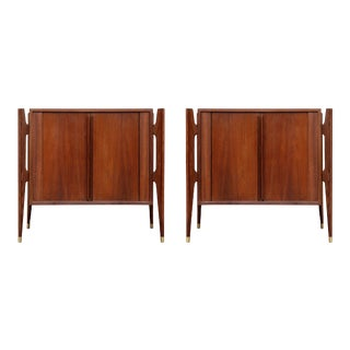 Jorgen Clausen for Brande Møbelfabrik Nightstands - a Pair For Sale