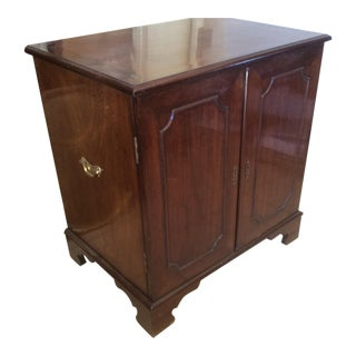 Classic Mahogany Two Door Cabinet With Handles For Sale