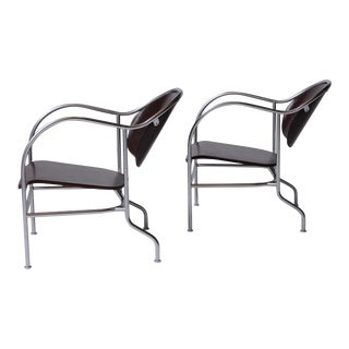 "Pair of ""Sven"" Easy Chairs by Mats Theselius For Sale"