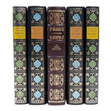 Image of Set of French Leather Bound Books S/5 For Sale