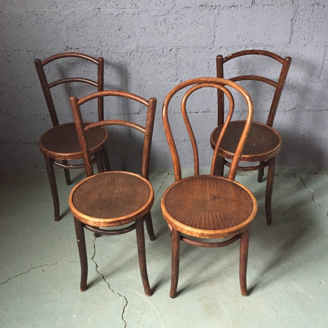 Thonet Bentwood Cafe Chairs - Set of 4 - Image 3 of 11