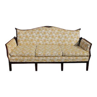 Traditional Carved Asian Chinoiserie Sofa For Sale