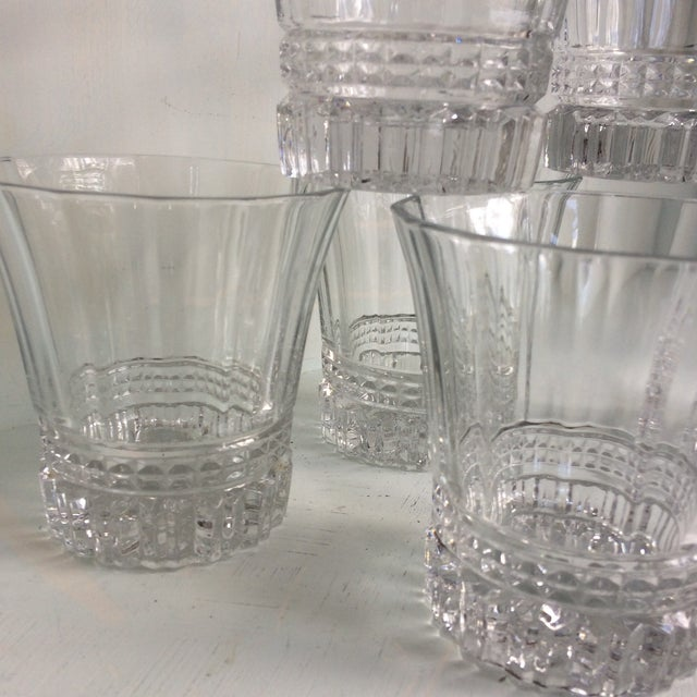 Cristal d'Arques-Durand Victoria Double Old Fashion Glasses - Set of 6 For Sale - Image 11 of 13