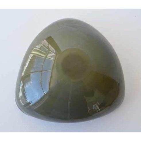 Alfredo Barbini Italian Murano Cobalt Blue Glass Catchall Bowl For Sale - Image 11 of 11