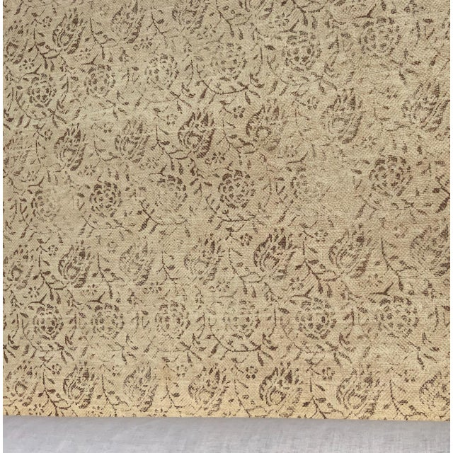 """Rose Tarlow for Melrose House """"Calais"""" Fabric in Taupe/Natural 100% Hemp Lined For Sale In Los Angeles - Image 6 of 9"""