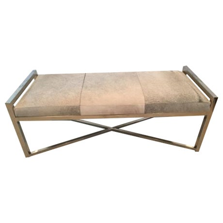 Mohair X-Base Bench/Cocktail Table - Image 1 of 11