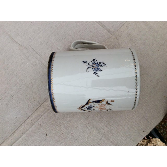 White 18th Century Chinese Export Tankard For Sale - Image 8 of 10
