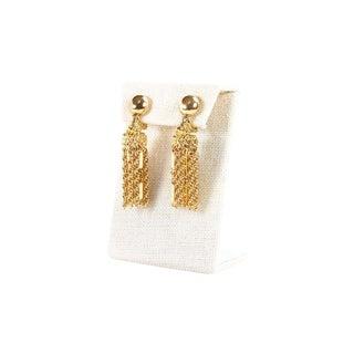 Vintage Monet Classic Tassel Clip on Earrings For Sale