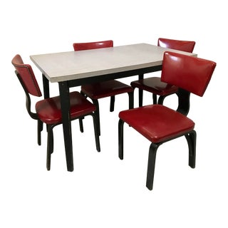 Vintage Thonet Bentwood Dining Set - 5 Pieces For Sale