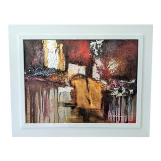 Framed Abstract Expressionist Painting For Sale