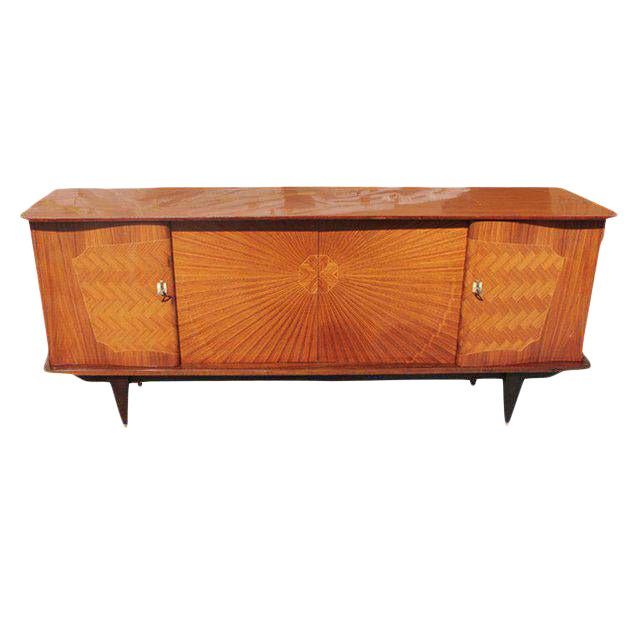 French Art Deco Exotic Rosewood Sunburst Sideboard / Buffet Circa 1940s - Image 1 of 10