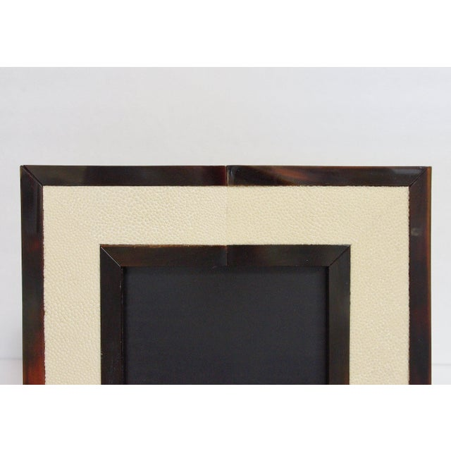 2010s Ivory Shagreen and Brown Horn Photo Frame by Fabio Ltd For Sale - Image 5 of 8