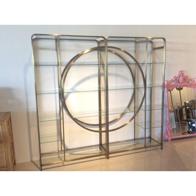 Brass Design Institute of America Milo Baughman Vintage Brass Etagere Shelves - A Pair For Sale - Image 7 of 11