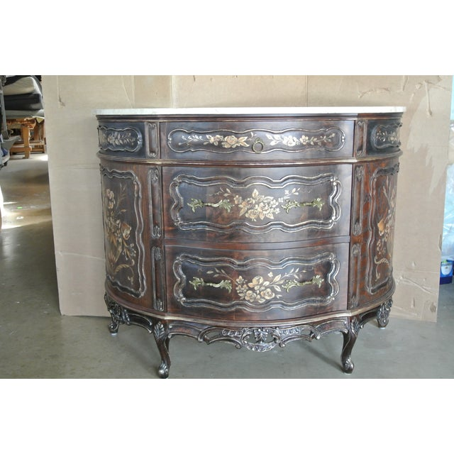 French French Hand Decorated Commode For Sale - Image 3 of 7