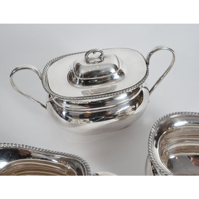 Vintage English Sheffield Sterling Silver Tea / Coffee Service - 5 Pc. Set For Sale - Image 11 of 13