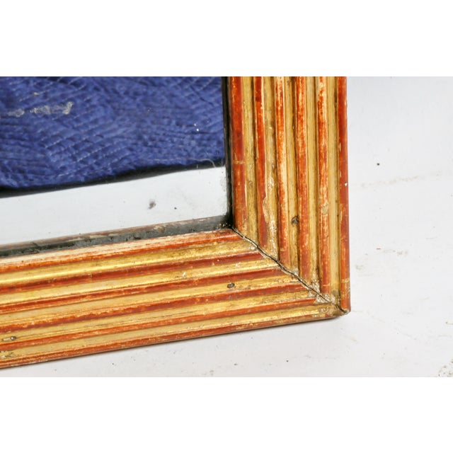 19th Century French Mirror with Red Lacquer and Gold Leaf For Sale - Image 10 of 11